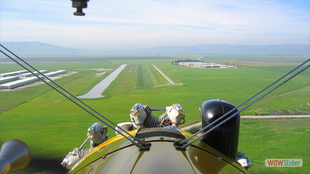 Stearman N54173 and Andreas Hotea -  Approach to Fraser Lake Airport
