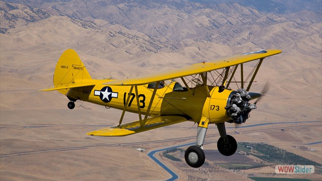Stearman N54173 and Andreas Hotea cruising over California-0