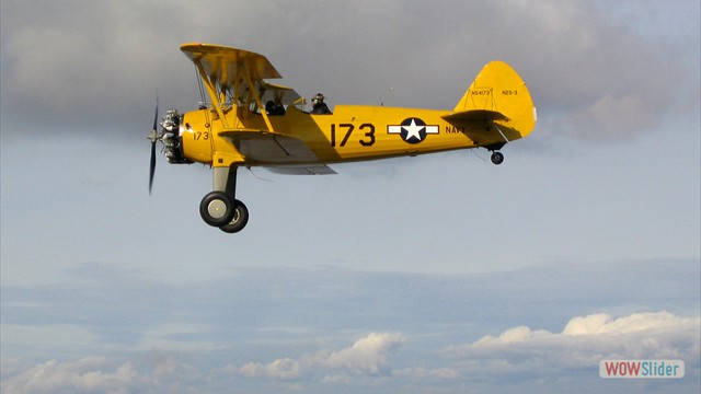 Stearman N54173 and Andreas Hotea cruising over California-3