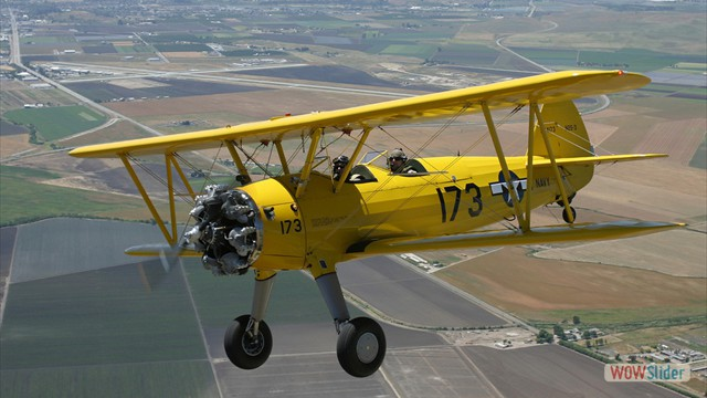Stearman N54173 and Andreas Hotea cruising over California-4