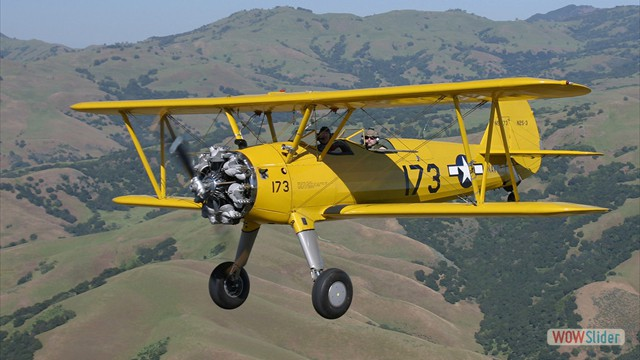 Stearman N54173 and Andreas Hotea cruising over California-5