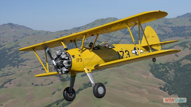 Stearman N54173 and Andreas Hotea cruising over California-6